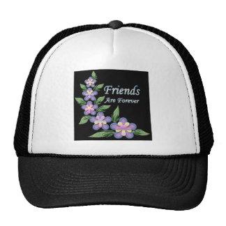 de vrienden zijn voor altijd met bloemen trucker pet