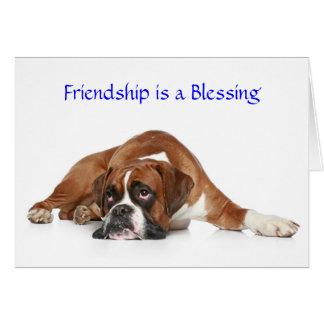 De vriendschap is een Wenskaart van de Bokser van