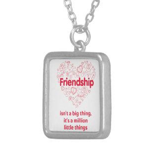 De vriendschap is miljoen ontworpen dingen leuk ketting vierkant hangertje
