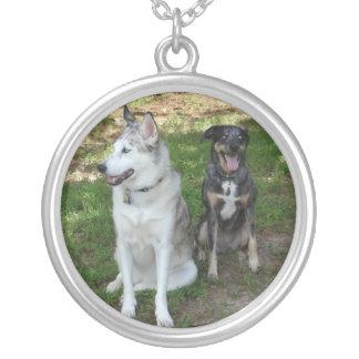 De Vriendschap van Catahoula en van de Hond Ausky Ketting Rond Hangertje