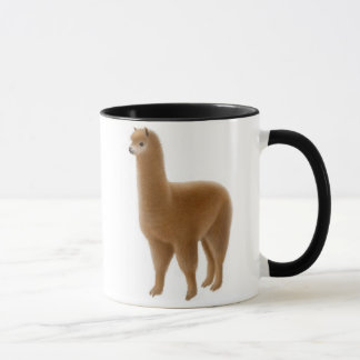 De vriendschappelijke Bruine Mok van de Alpaca