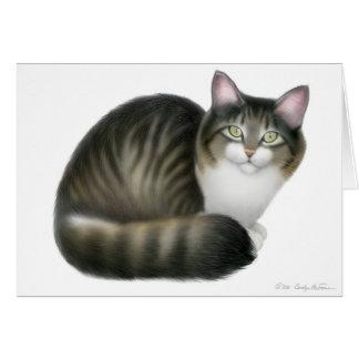 De vriendschappelijke Kaart van de Kat van de