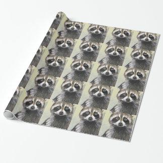 De vriendschappelijke Wasbeer Inpakpapier