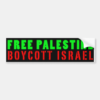 De VRIJE BOYCOT ISRAËL van PALESTINA - de Sticker Bumperstickers