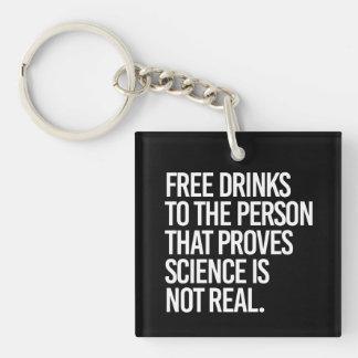 De vrije dranken aan de persoon die wetenschap sleutelhanger