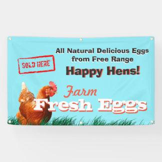 De vrije Eieren van de Kip van de Waaier Spandoek