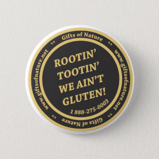 De Vrije Slogan van het gluten Ronde Button 5,7 Cm
