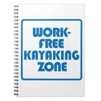 De Vrije Streek Kayaking van het werk Notitieboek