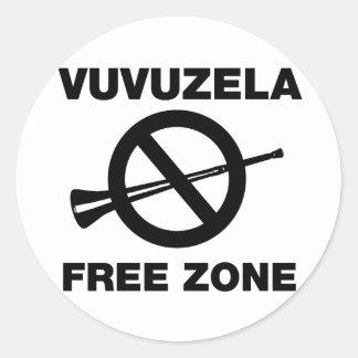 De Vrije Streek van Vuvuzela Ronde Sticker