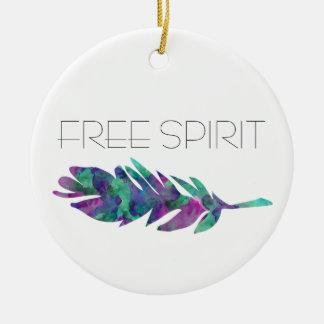 De vrije Veer van de Waterverf van de Geest Rond Keramisch Ornament
