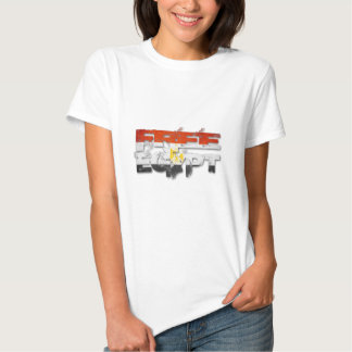 De vrije Vlag van Egypte T Shirts