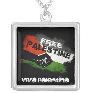 De vrije Vlag van Palestina Grunge Ketting Vierkant Hangertje