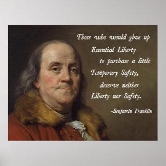 De Vrijheid van Benjamin Franklin Poster