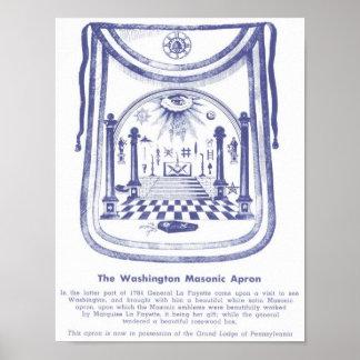 De Vrijmetselaars- Schort van George Washington Poster
