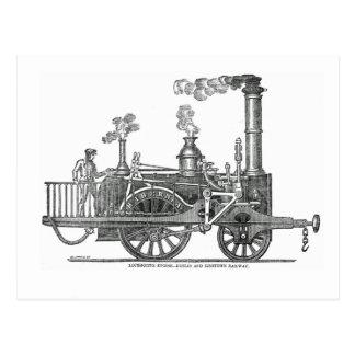 De vroege Locomotief van de Stoom Briefkaart