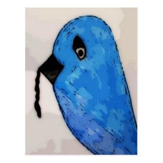De vroege vogel krijgt de Worm Briefkaart