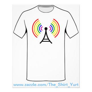 De vrolijke Antenne van het Signaal van de Flyer 11,4 X 14,2 Cm