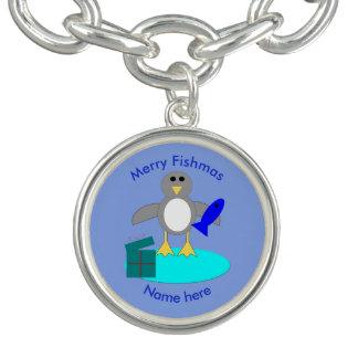 De vrolijke Armband van de Charme van de Pinguïn
