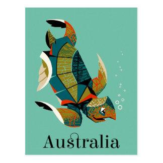De vrolijke Australische Schildpad van het Zee Briefkaart
