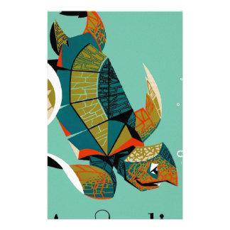 De vrolijke Australische Schildpad van het Zee Briefpapier