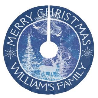 De vrolijke Blauwe Achtergrond van de Bomen van Kerstboom Rok