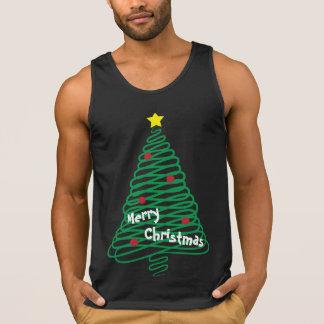 De vrolijke Boom van het Gekrabbel van Kerstmis Hemd