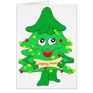 De vrolijke Boom van Kerstmis van Kerstmis Briefkaarten 0