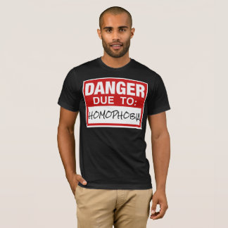De vrolijke Bovenkant van de Verklaring Homophobia T Shirt