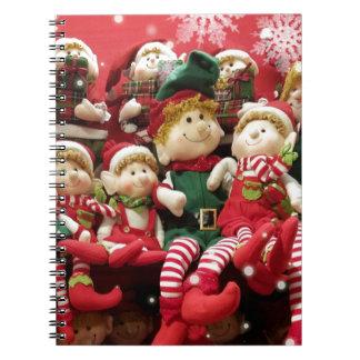 De vrolijke Elf van Kerstmis Notitieboek