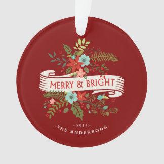 De vrolijke en Heldere BloemenFoto van de Familie Ornament