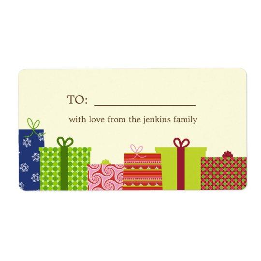 De vrolijke Etiketten van de Gift van de Vakantie Verzendlabel