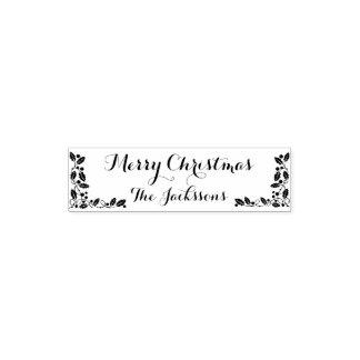De vrolijke Familienaam van Kerstmis en het decor Zelfinktende Stempel
