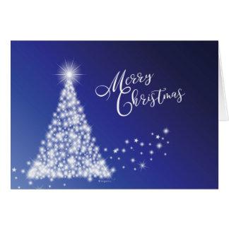 De vrolijke Feestelijke Sterrige Boom van Kerstmis Briefkaarten 0