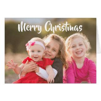 De vrolijke Foto van de Familie van Kerstmis Kaart