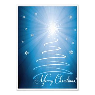 De vrolijke Funky Kerstboom van Kerstmis Foto Afdruk