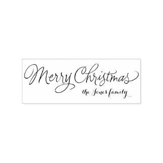 De vrolijke gepersonaliseerde groeten van Kerstmis Rubberenstempel