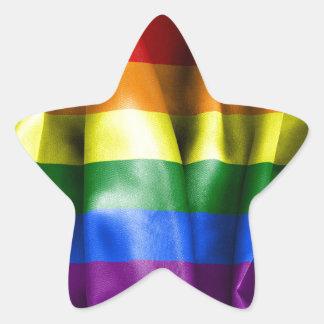 De vrolijke Gevormde Sticker van de Vlag van de