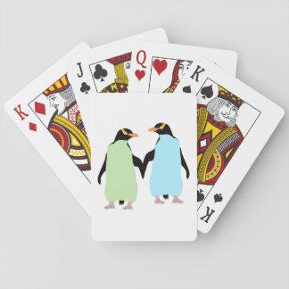 De vrolijke Handen van de Holding van de Pinguïnen Speelkaarten