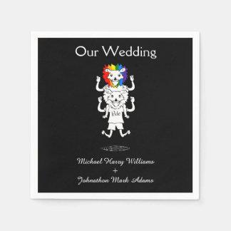 De vrolijke Herinnering van het Huwelijk van de Papieren Servet