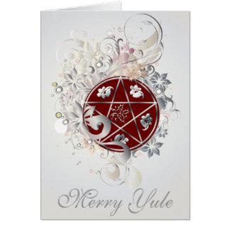 De vrolijke Kaart van de Kamee van Yule Pentagram