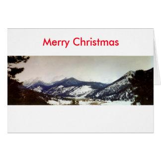 De Vrolijke Kerstkaart van Colorado Rockies Kaart