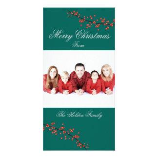 De Vrolijke Kerstkaart van de Bes van de hulst Fotokaart