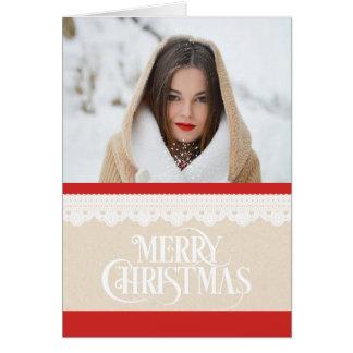 De vrolijke Kerstkaart van de Foto van Kerstmis Briefkaarten 0