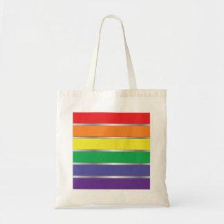 De vrolijke Kleuren van de Vlag van de Regenboog v Draagtas