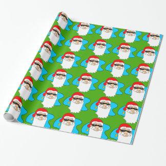 De vrolijke Koele Kerstman van Kerstmis in het Inpakpapier