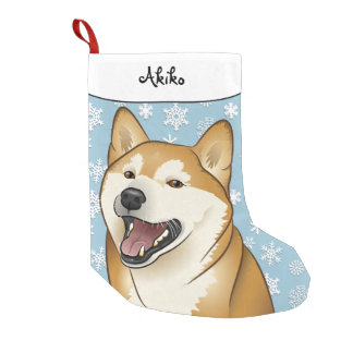 De vrolijke Kous van Shiba Inu van Kerstmis Kleine Kerstsok
