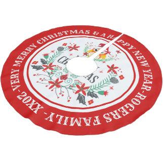 De vrolijke Kroon van Kerstmis & Leuke Uil Kerstboom Rok