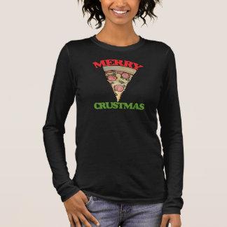 De vrolijke pizza van Kerstmis Crustmas T Shirts