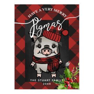 De vrolijke Plaid van Buffels Pigmas Briefkaart