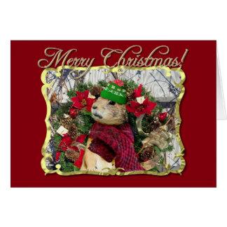 De vrolijke Prairiehond van Kerstmis Kaart